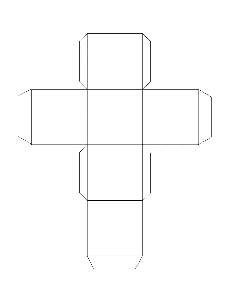 3 d shape nets cube