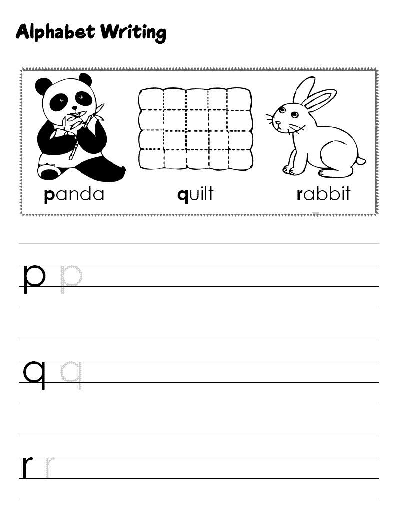 Alphabet sheets for preschool fun