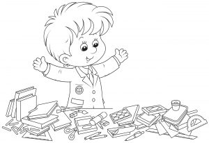 Elementary school coloring pages activity