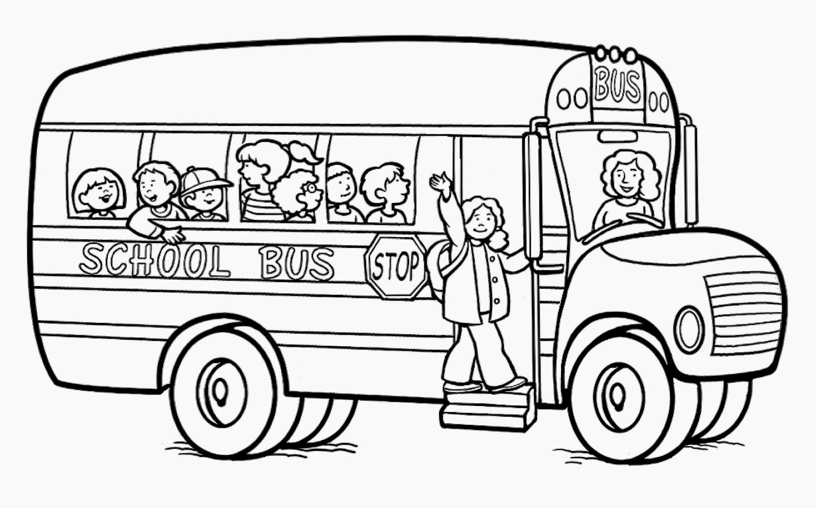 Elementary school coloring pages