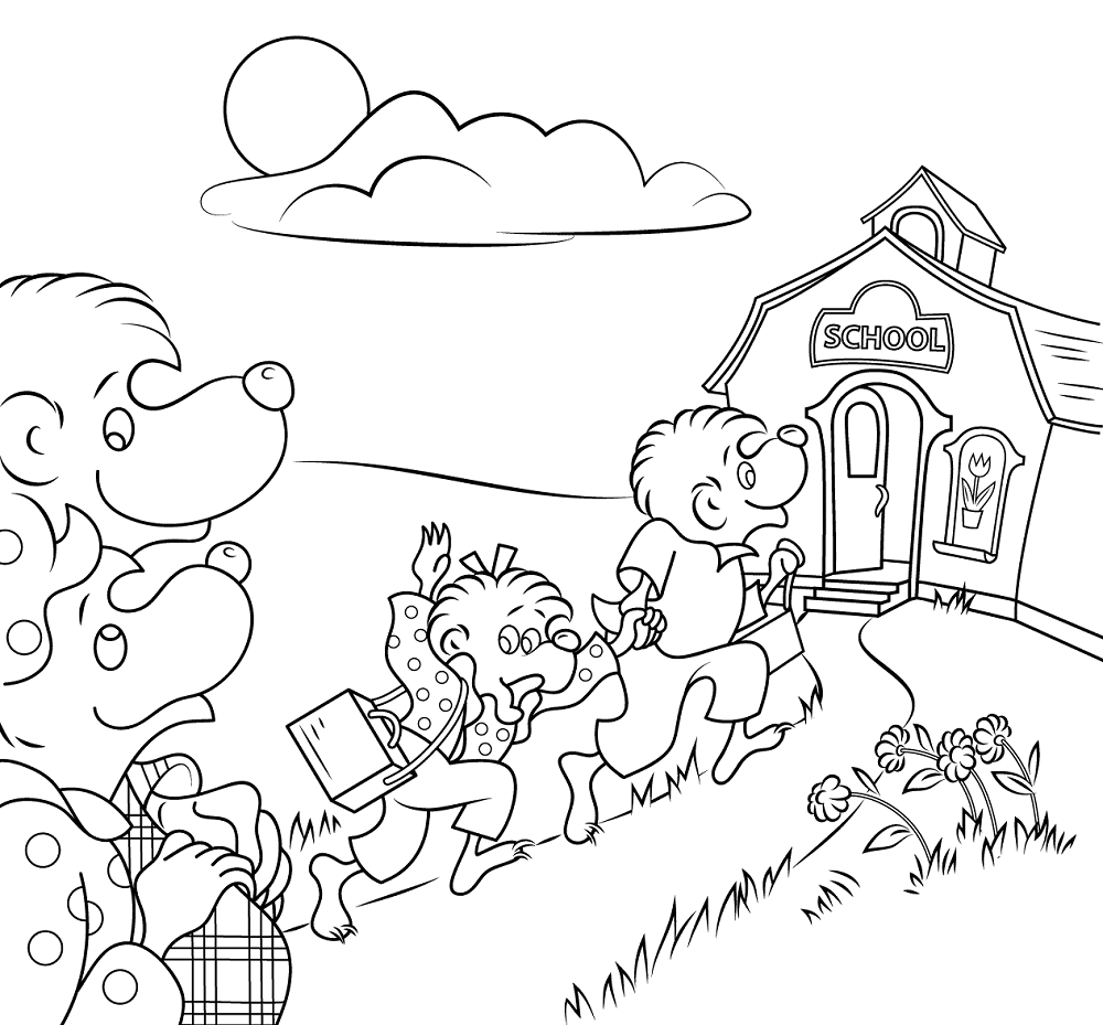 Elementary school coloring pages practice