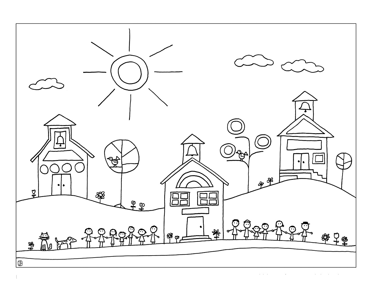 elementary school coloring pages - photo#7