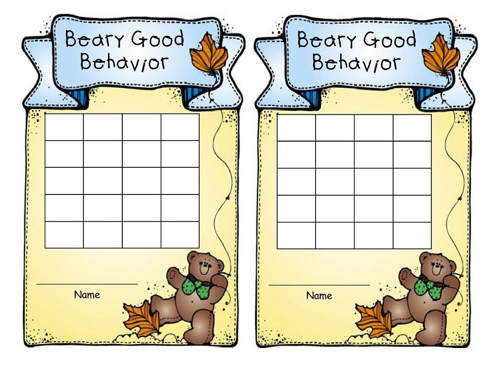 Printable Behavior Charts design