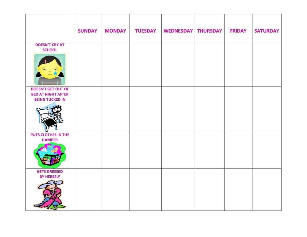 Printable Behavior Charts image