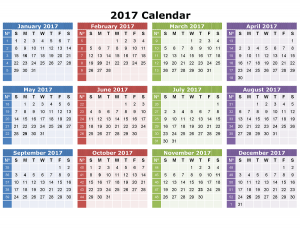 Printable Calendars 2017 One Page image