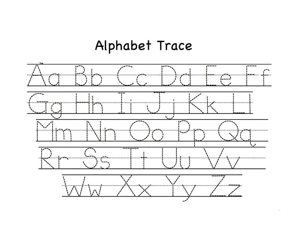 Workbooks traceable alphabet worksheets a-z : Traceable Abc Worksheets - Checks Worksheet