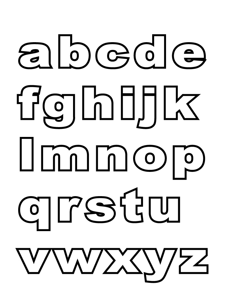 alphabet printables formation