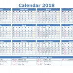 calendars 2018 printable yearly