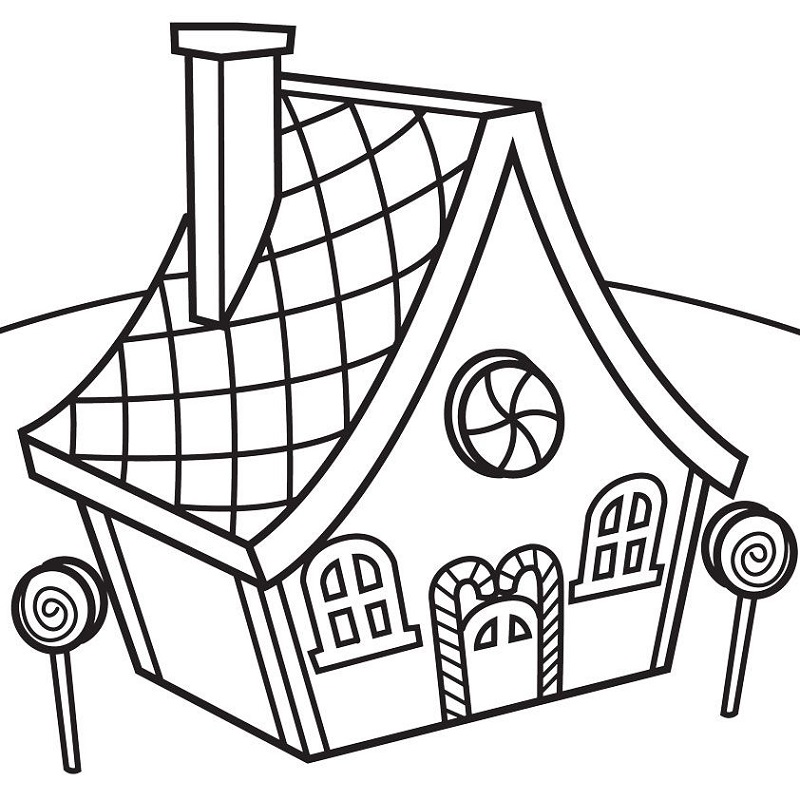 candy land coloring page easy