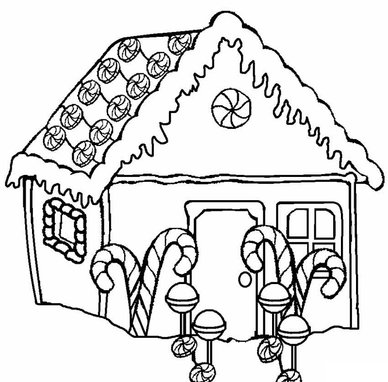 candy land coloring page for kids