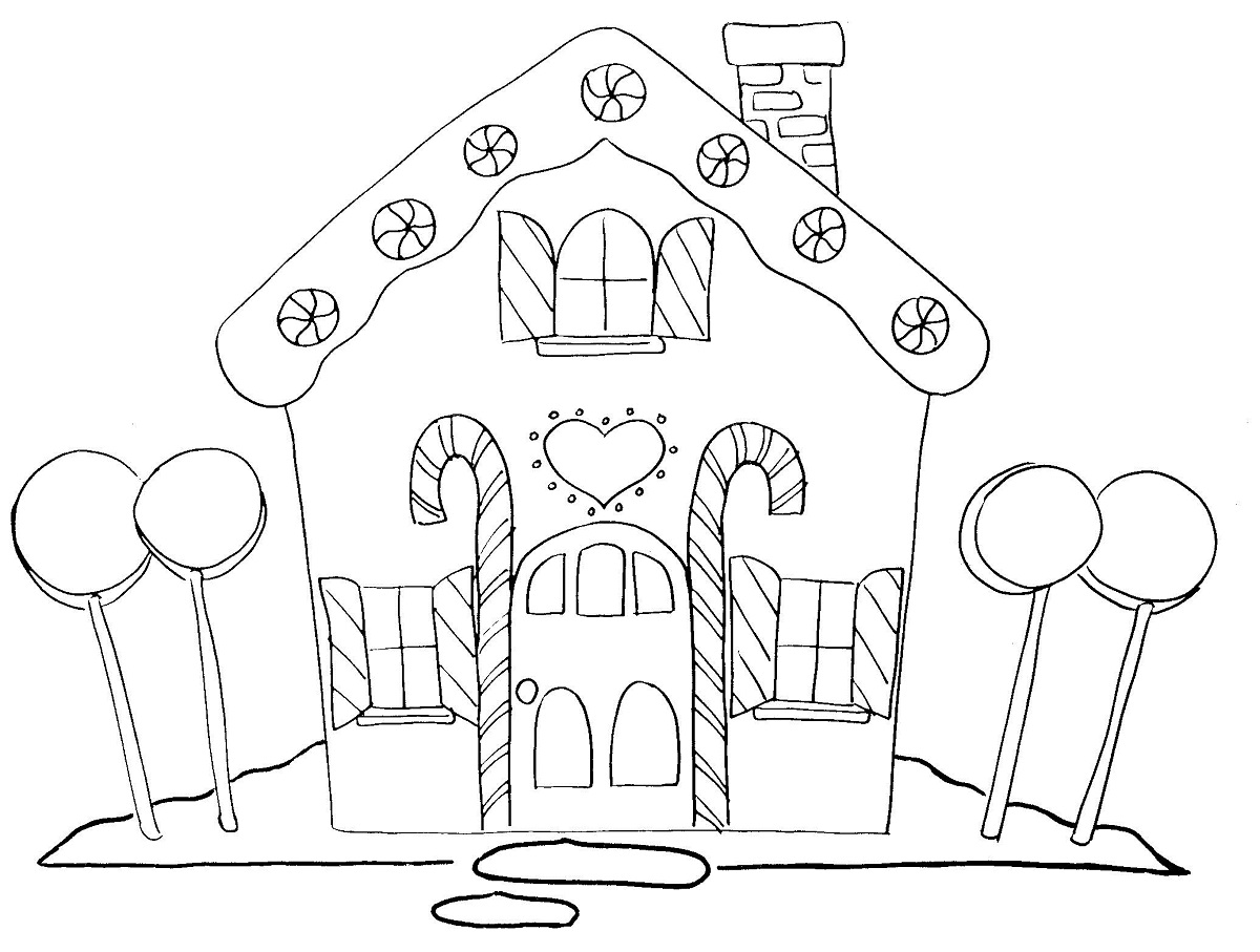 candy land coloring page printable