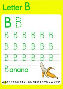 capital alphabets tracing worksheets for kids