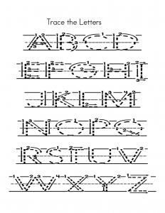 capital alphabets tracing worksheets page