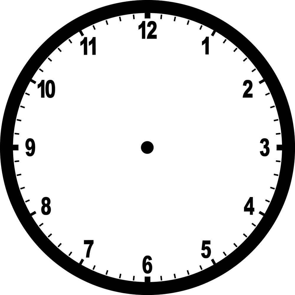 clock face image blank