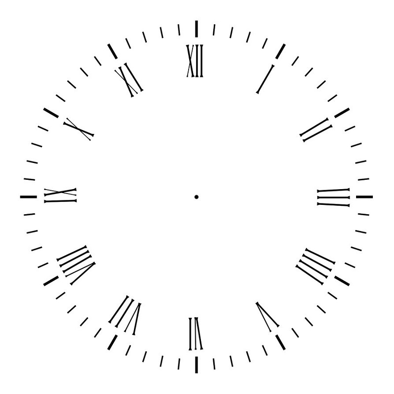 clock face image clipart