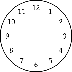 clock face image page