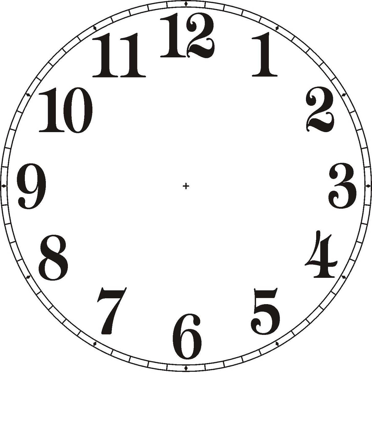 Clock Face Image Printable To Learn Telling Time Learning Printable