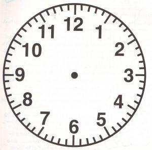 clock face image simple