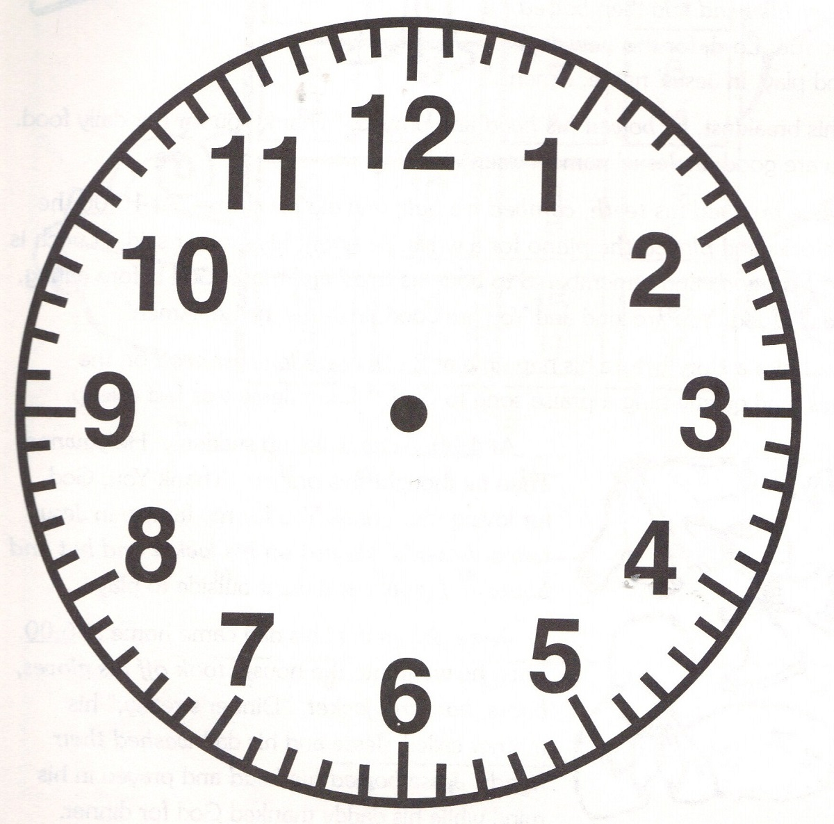clock face image simple – Learning Printable