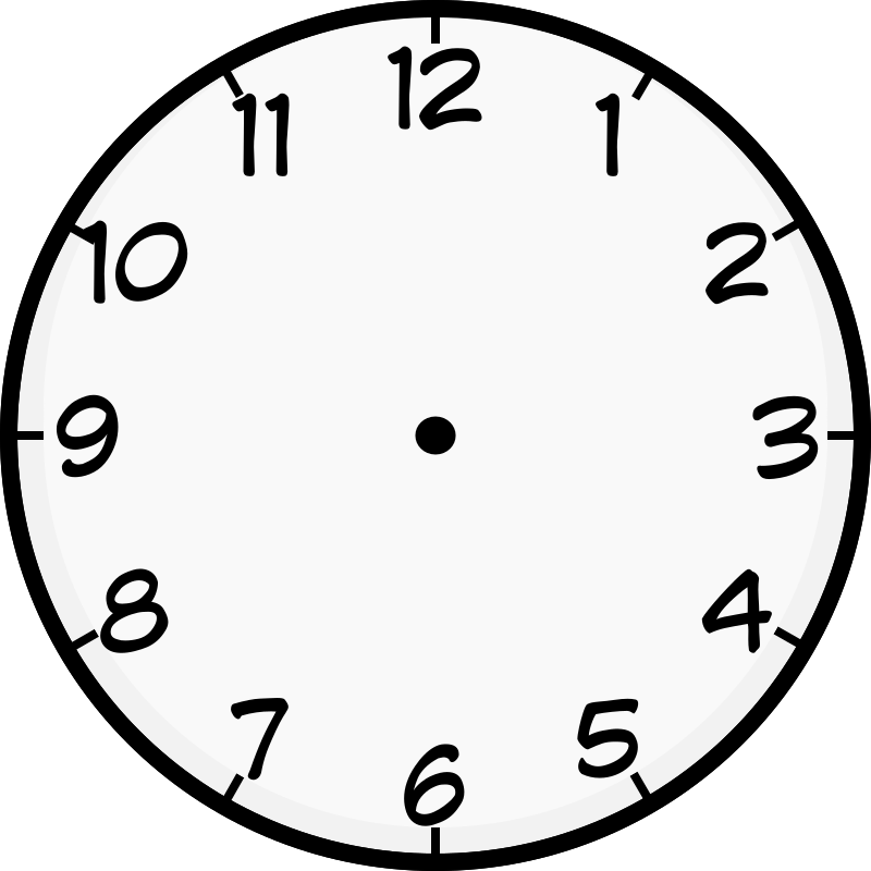Clock Face Image Printable to Learn Telling Time ...
