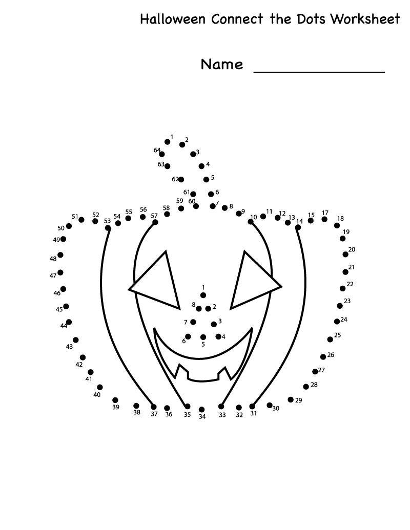 dot to dot Learning Printable