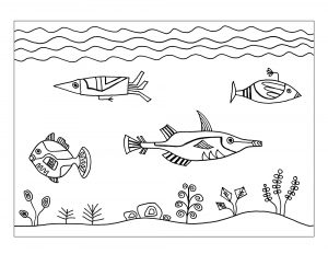 easy fun fish worksheets for kids coloring
