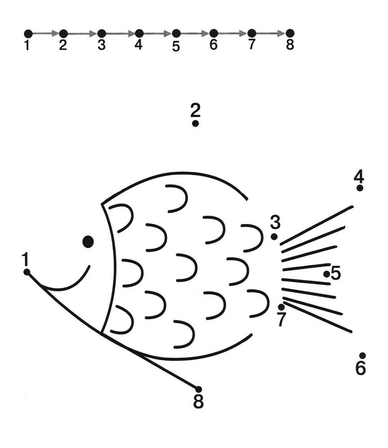 easy fun fish worksheets for kids dot to dot – Learning ...