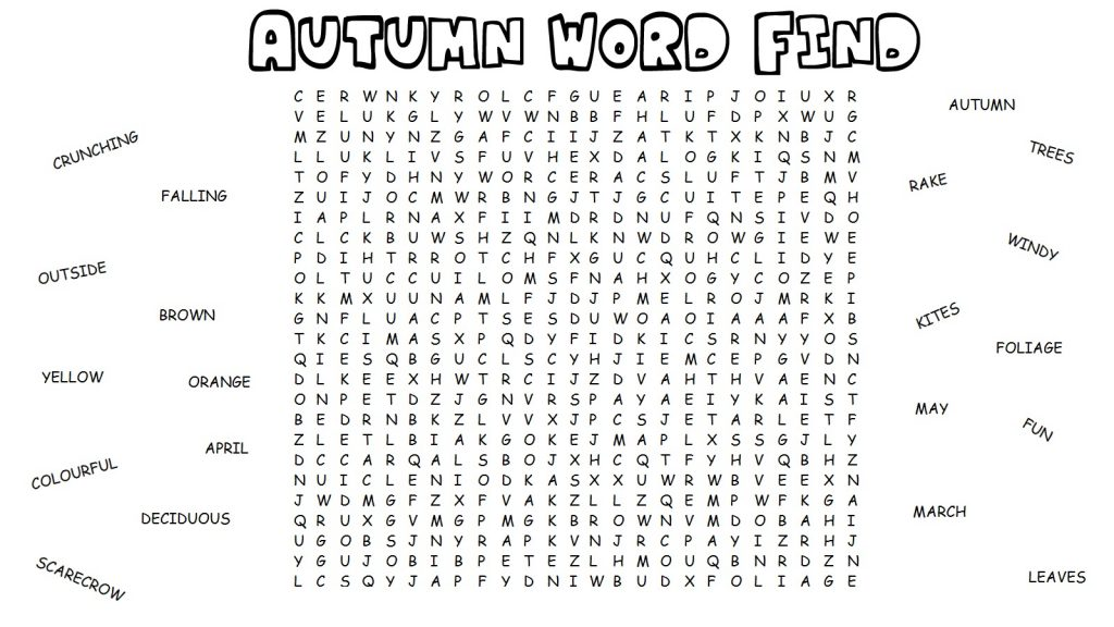 free elementary word search activity