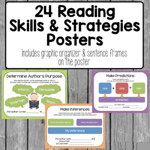 free printable reading strategy posters image