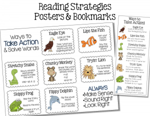 free printable reading strategy posters page
