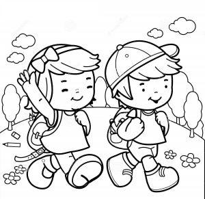 girl and boy colour in template fun