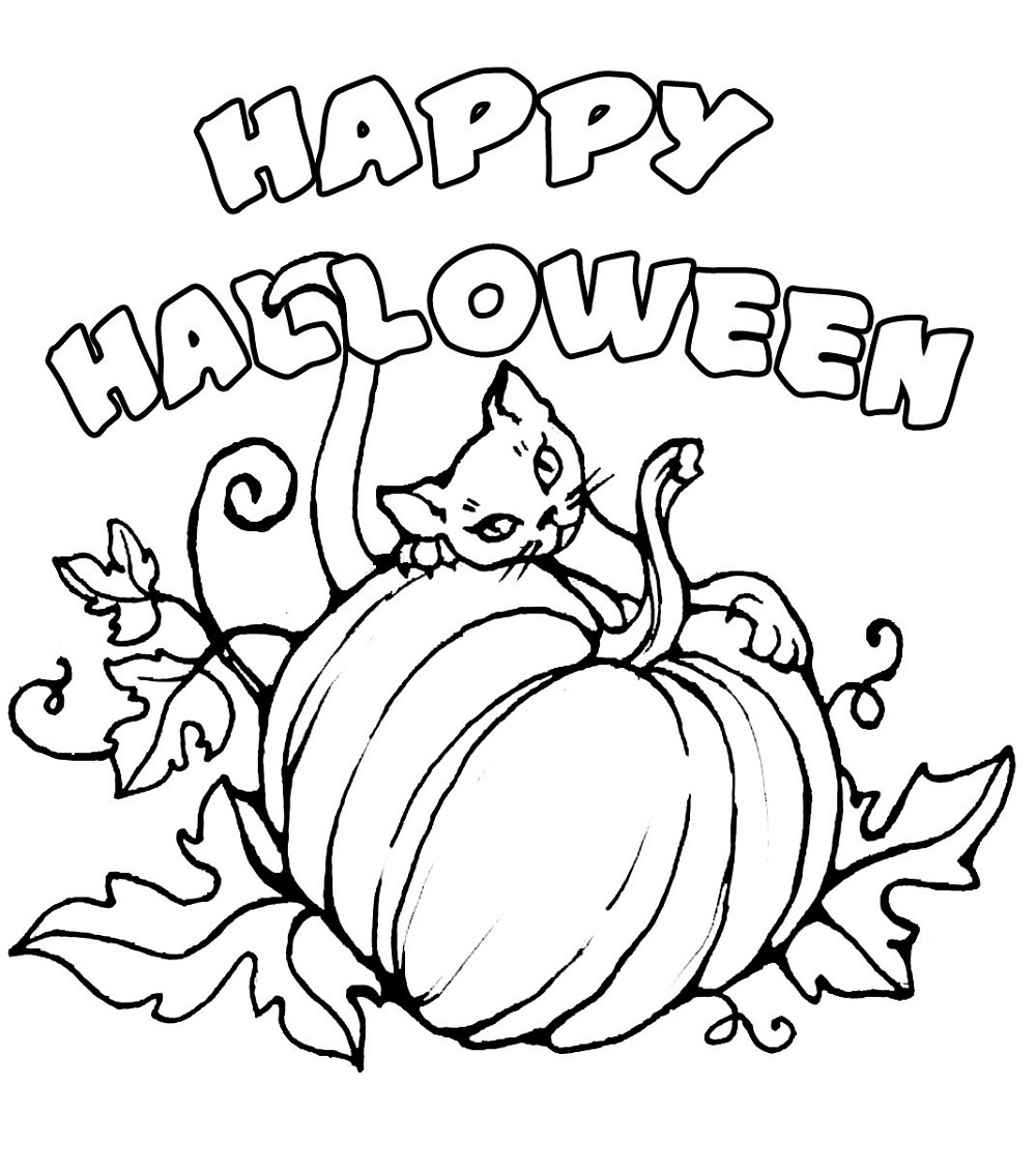 halloween coloring sheets activity