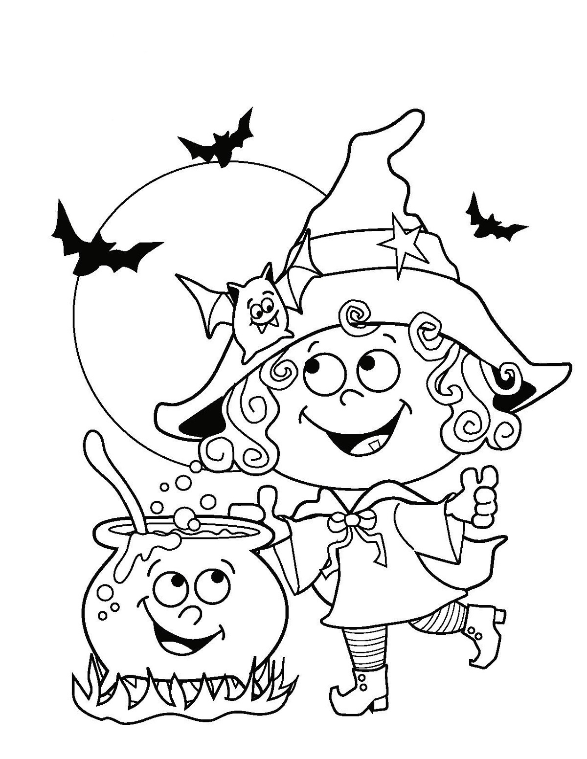 halloween coloring sheets page
