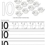 number 10 preschool worksheet practice