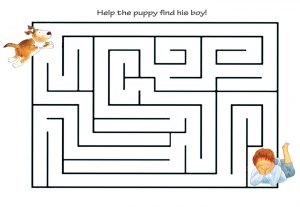 printable maze for kids activity