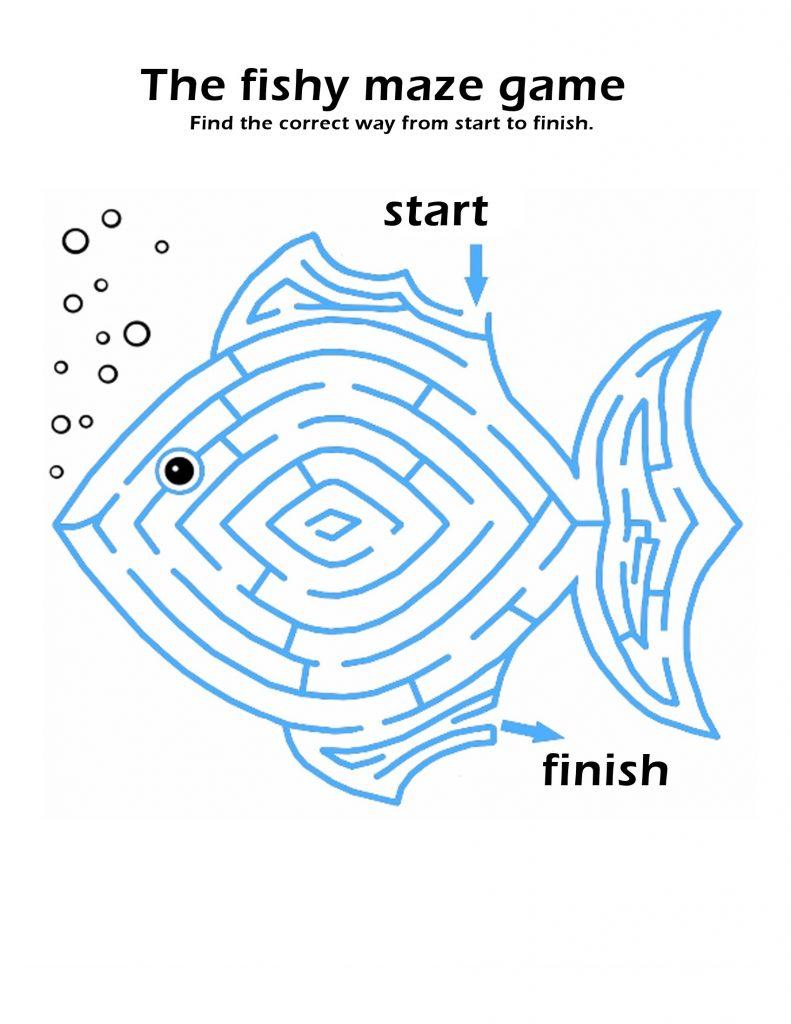 printable maze for kids fun