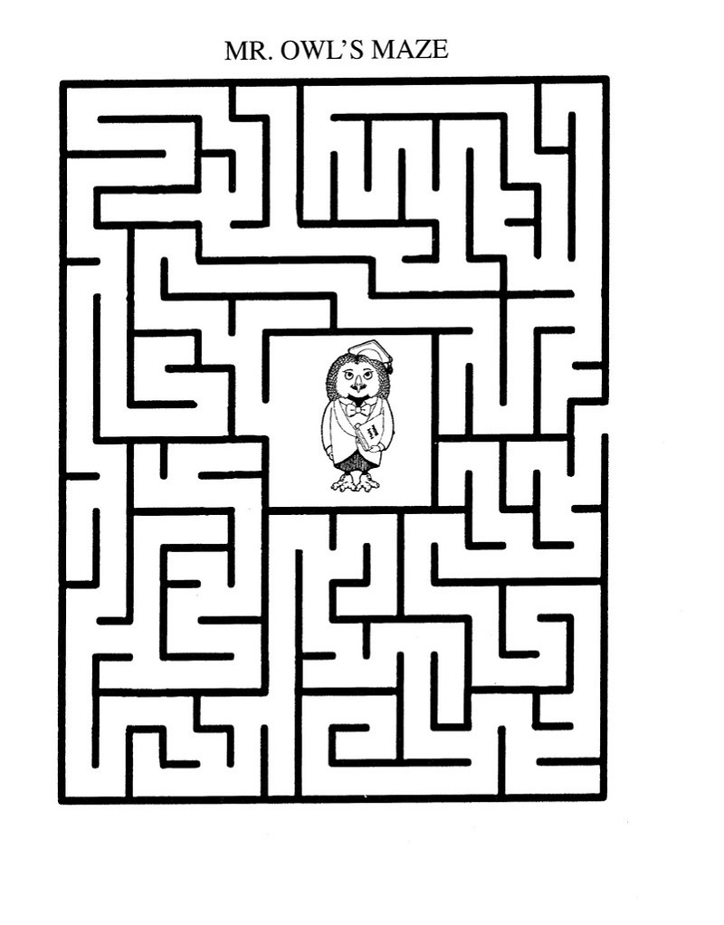 printable maze for kids page