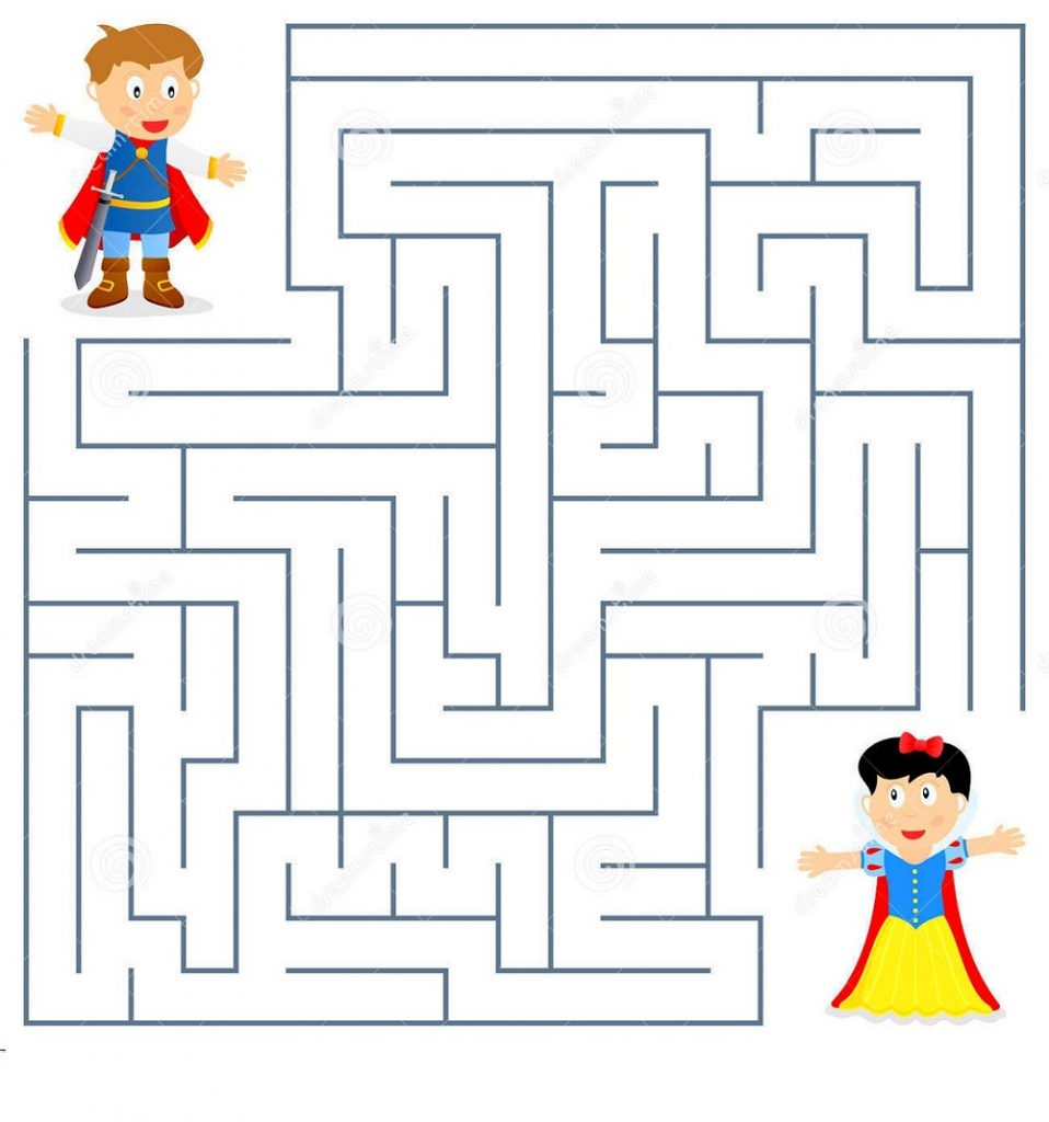 printable maze for kids practice