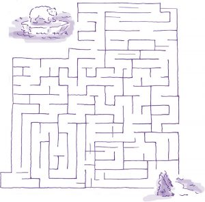 printable maze for kids sheet