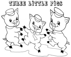 3 little pigs coloring pages for preschoolers easy