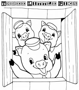 3 little pigs coloring pages for preschoolers fun