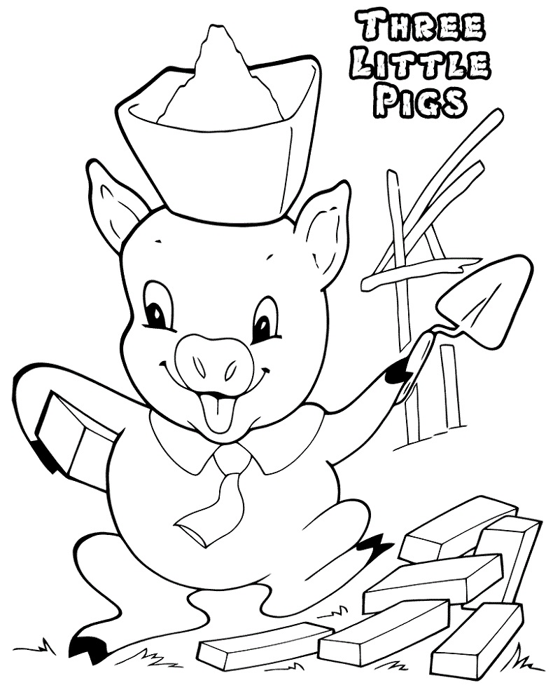3 little pigs coloring pages for preschoolers practice