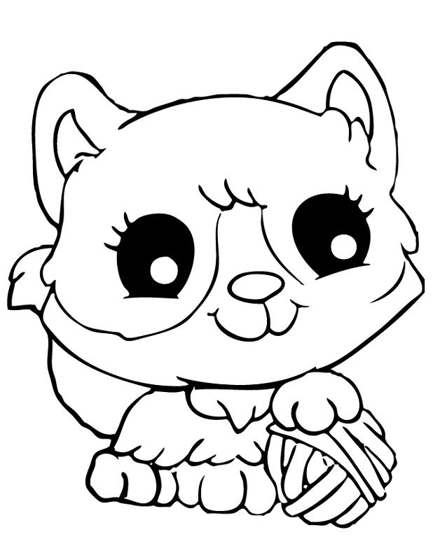 cute cat coloring pages - Cat Coloring Sheets