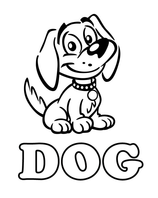 dog coloring pages pdf | Free Printable Dog Coloring Pages | Learning Printable