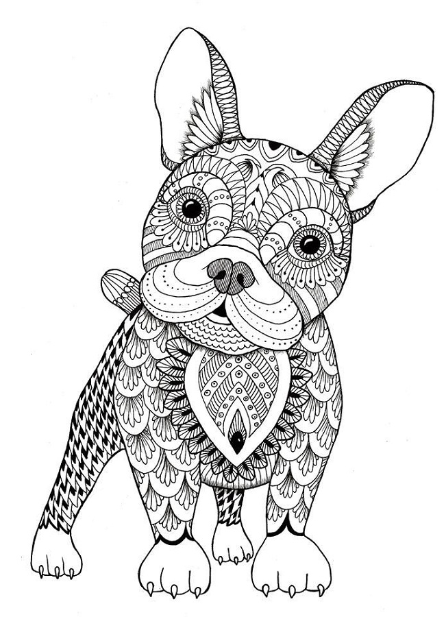 Dog coloring pages for adults learning printable Educational coloring books for adults