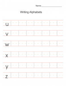 KIDS WRITING PAGES practice