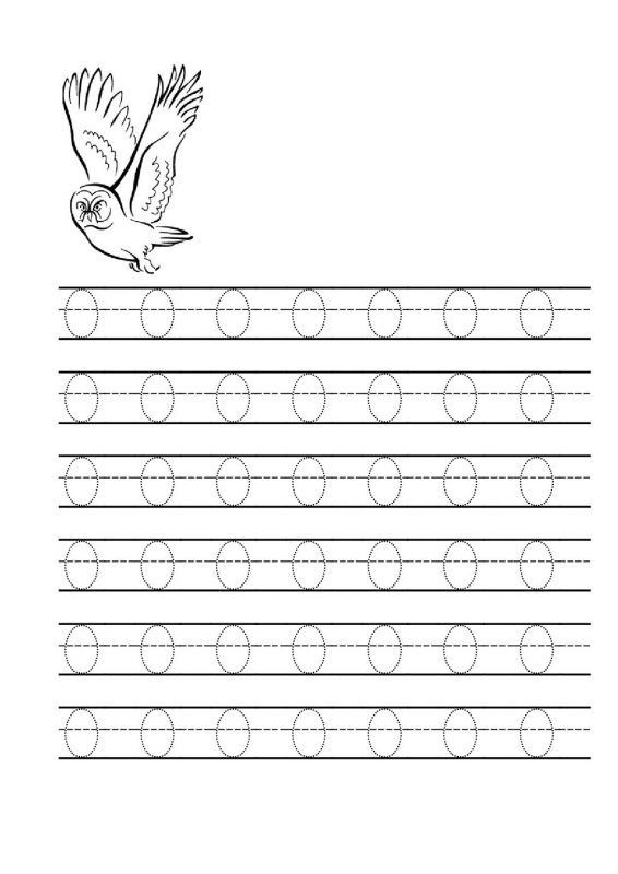 Letter o Tracing Worksheet Owl