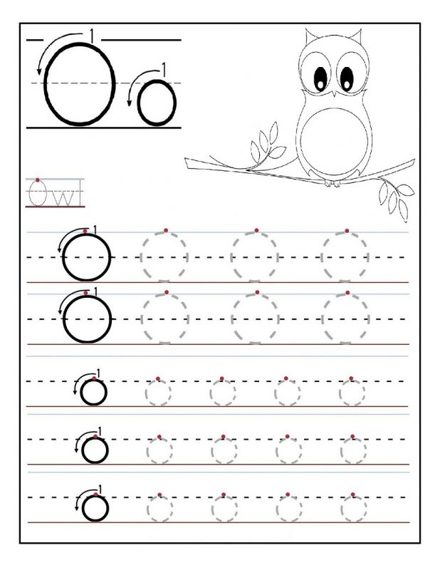 Letter o Tracing Worksheet for Kids