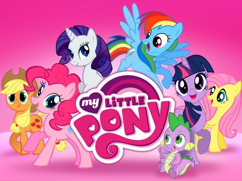My LITTLE pony and friends pink picture cover