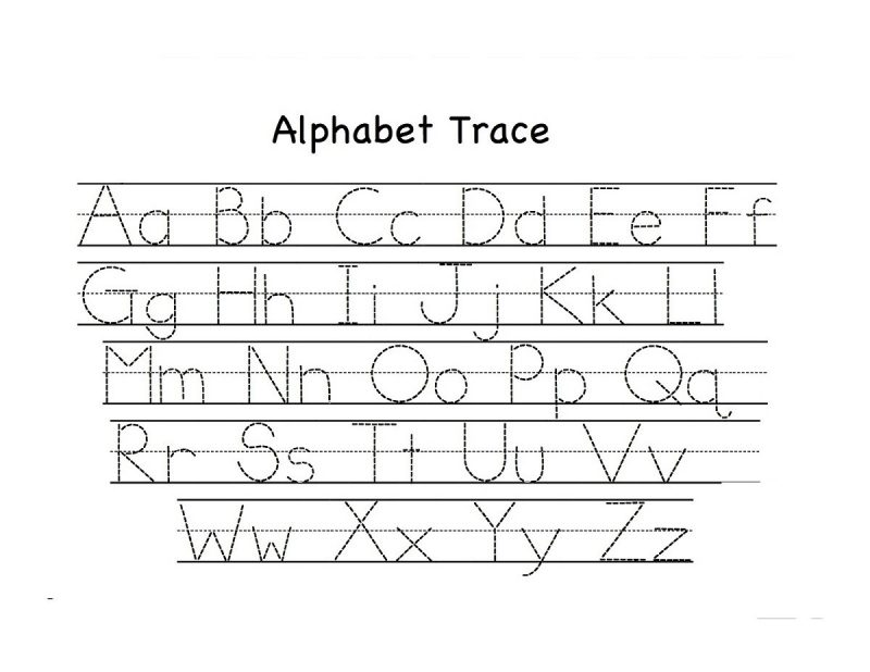 abc activities for kindergarten trace